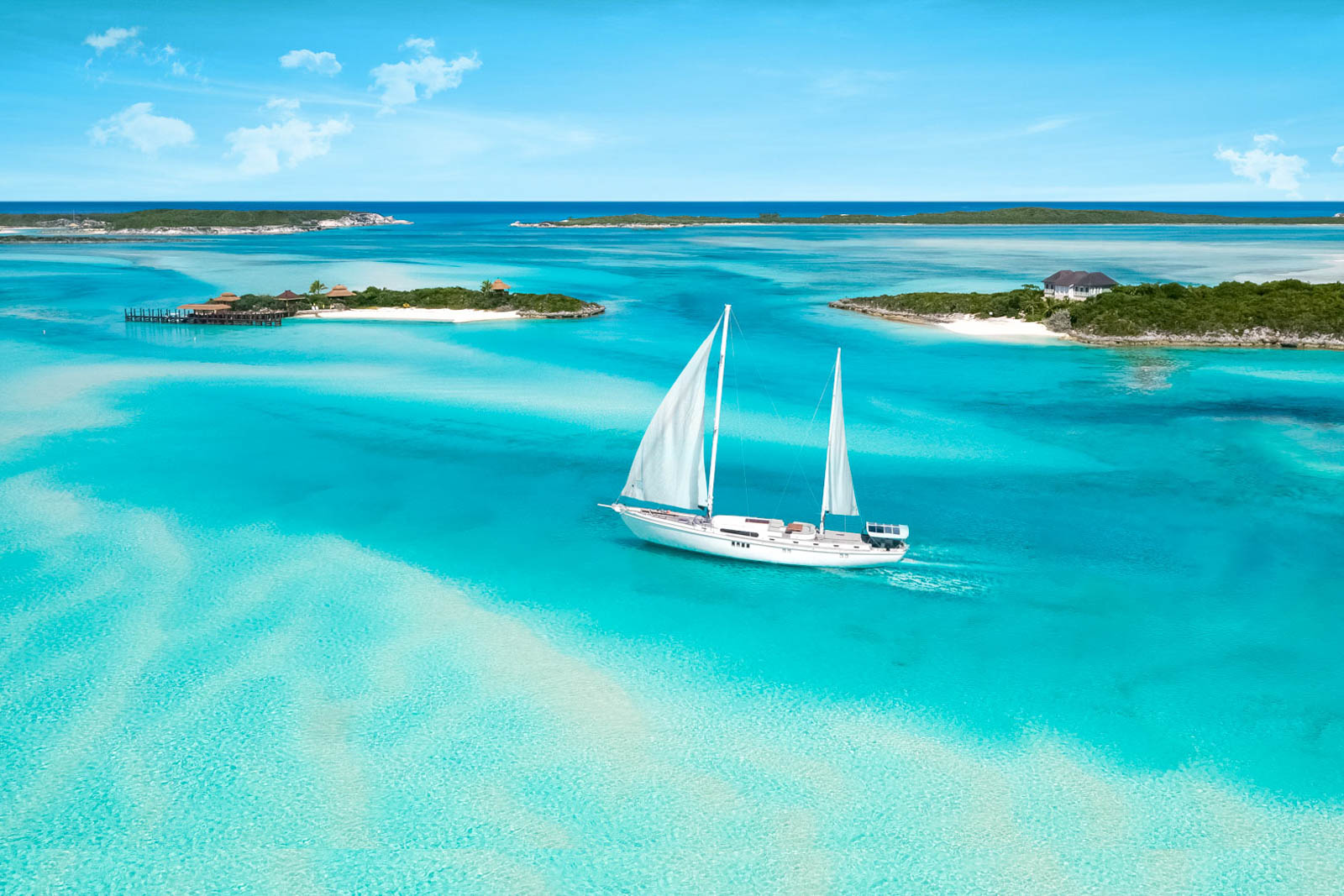 Sail through breath-taking landscapes while island hopping through the Exumas. Many of the best things to do in the Bahamas require extra over-water exploration on your Bahamas day trip.