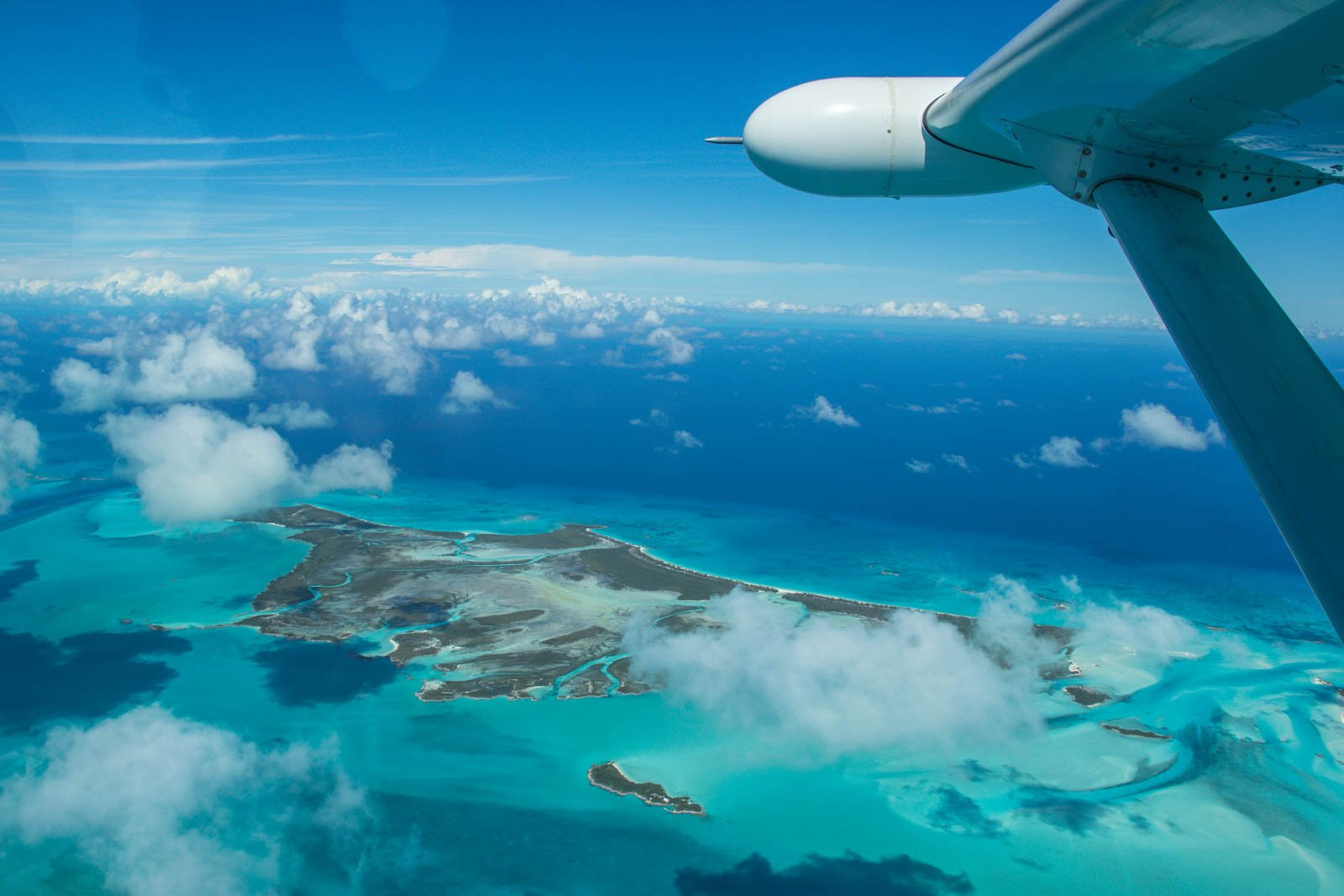The view aboard a Bahamas air charter is jaw-dropping. Take a Day trip to Bahamas from Miami for the views and luxury.