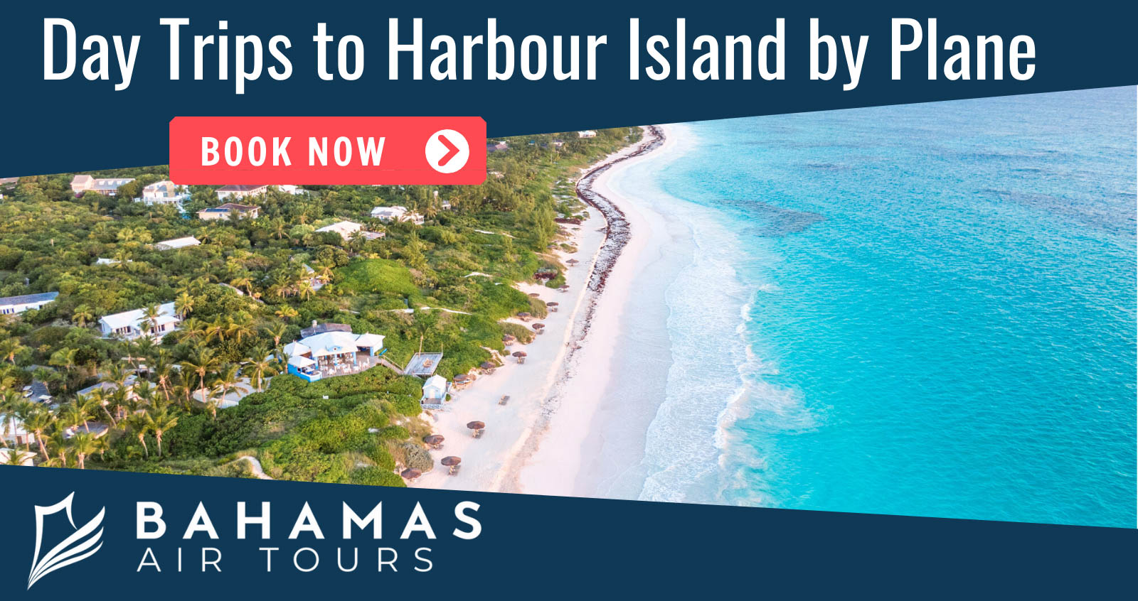 Harbour Island Day Trip from Nassau with Bahamas Air Tours, dunmore town and pink sands beach excursions by plane from Nassau Bahamas.