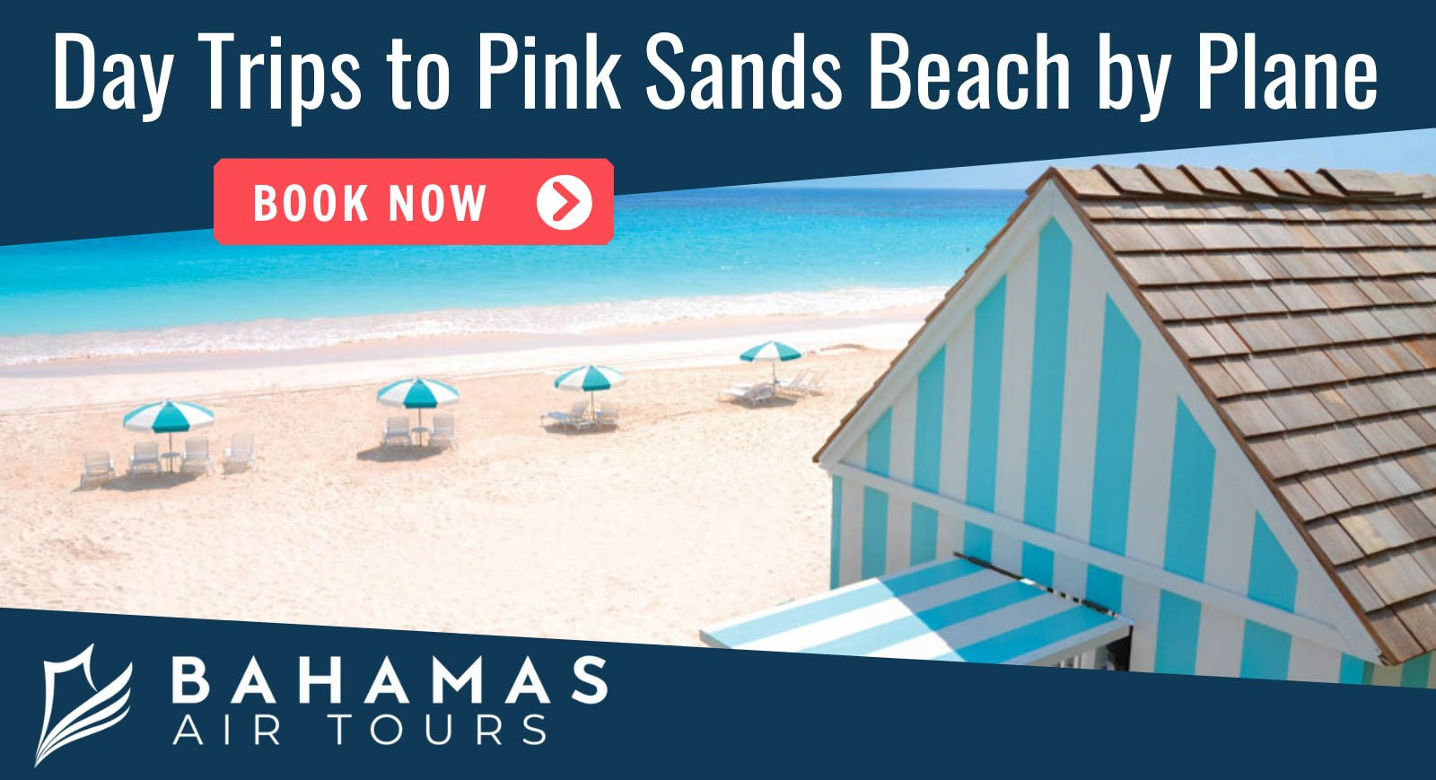 Pinks Sands BEach Harbour ISland Tours with Bahamas Air Tours by Plane.