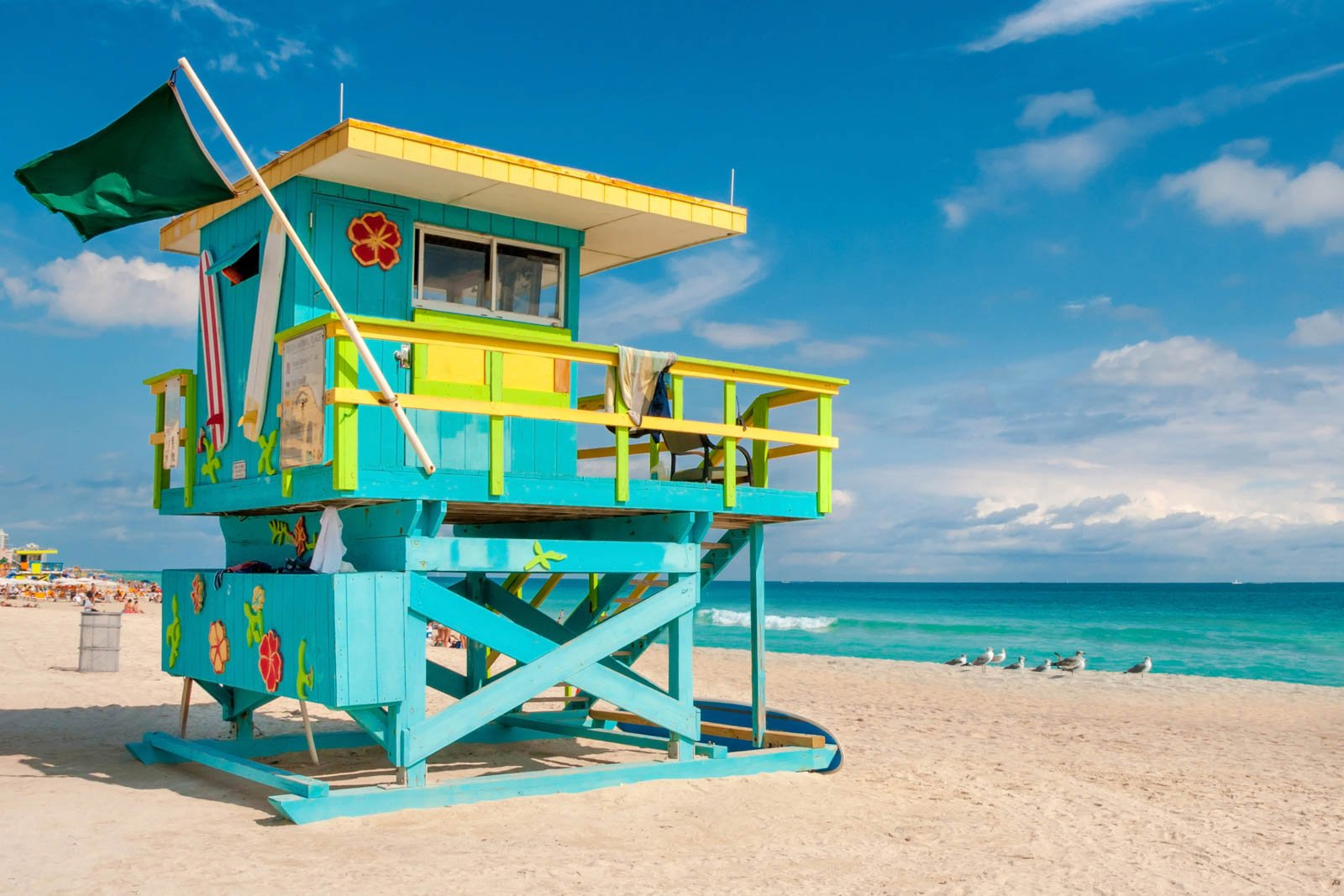 Lifeguard Tower in South Beach. One of our favorite places to visit in Florida is Miami's most popular beach. There are so many things to do in South Florida, but this is one you should make time for.
