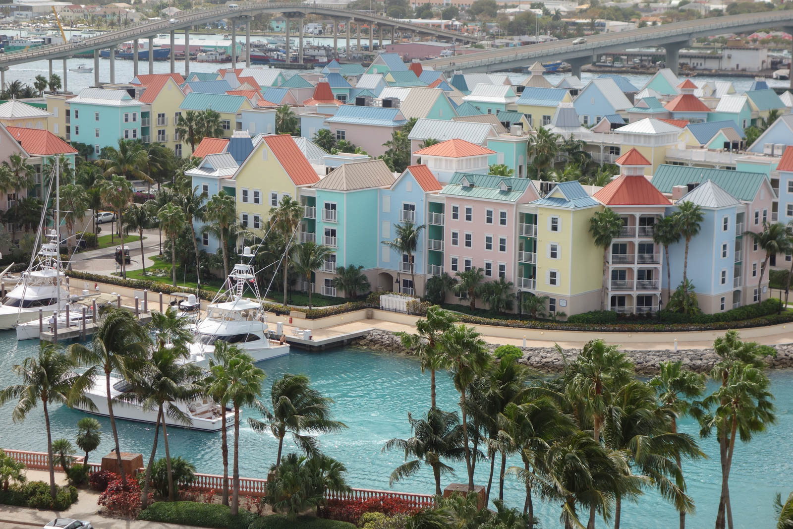 Aerial photo of Downtown Nassau. There are plenty of things to do in Atlantis Bahamas including a day trip to the downtown area of Nassau.