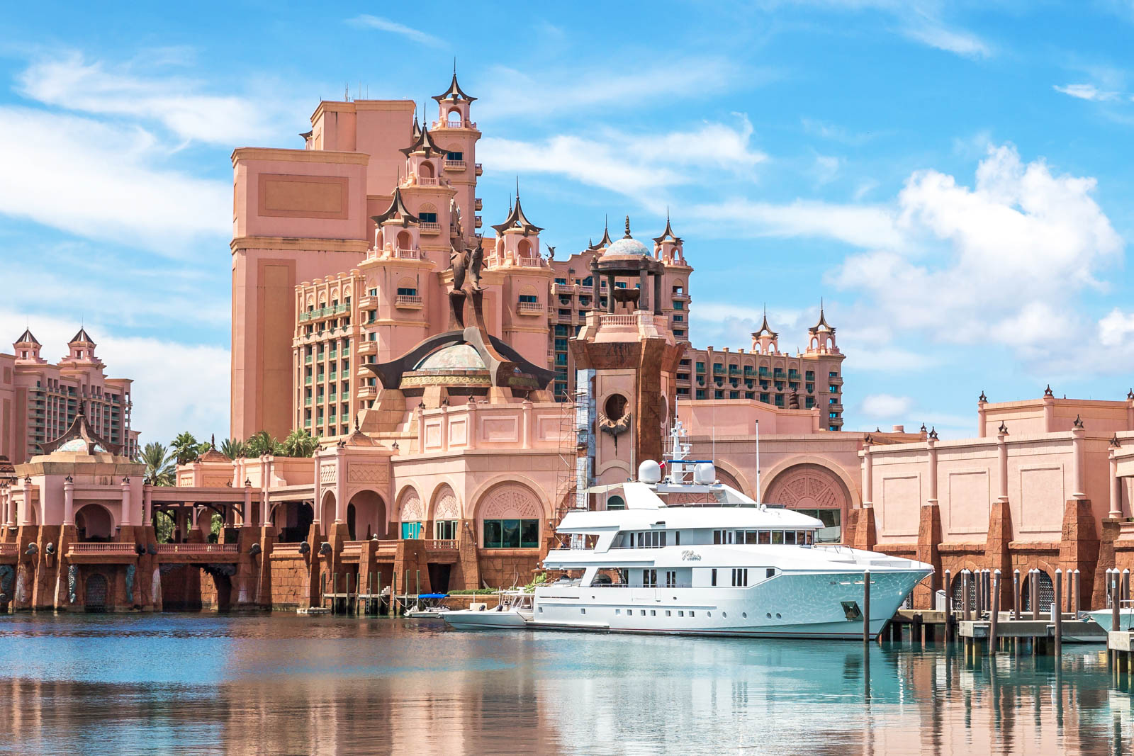 The Atlantis Paradise Island resort, located in the Bahamas. One of the best things to do in Atlantis Bahamas and best things to do in Nassau is the world class casino.