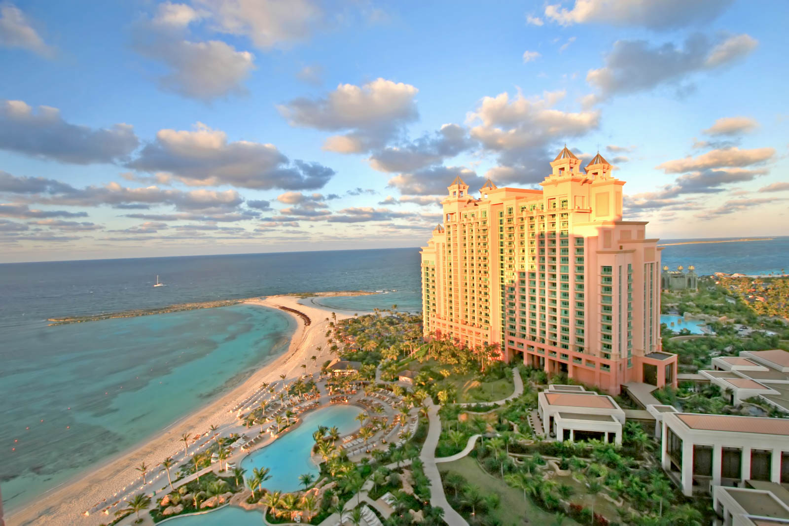 Paradise Island, Bahamas - Looking toward The Cove Atlantis from The Reef Atlantis at Atlantis Paradise Island Bahamas. A guide to know al the things to do in Atlantis Bahamas and the best things to do in Nassau.